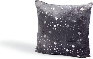 Dekokissen mit glitzer Sternen 50x50 cm - Dunkelgrau