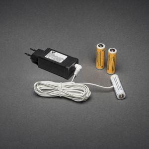 Konstsmide Netzadapter für Batterieartikel 4,5 V, mit 3 x AA 1,5 V Batterien