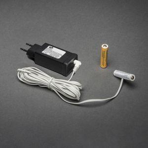Konstsmide Netzadapter für Batterieartikel 3 V, mit 2 x AAA 1,5 V Batterien