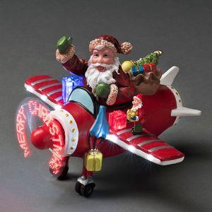 "Konstsmide LED Szenerie ""Weihnachtsmann im Flugzeug"""