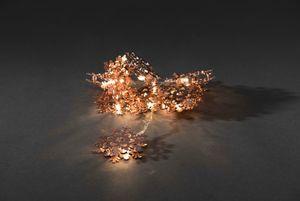 Konstsmide LED Dekolichterkette Metallschneeflocken, kupfer