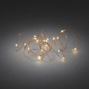 Konstsmide Micro LED Lichterkette, 20 Dioden, messingfarbener Draht