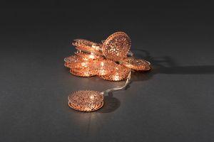 Konstsmide LED Dekolichterkette Metalltaler, kupfer