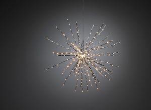 Konstsmide LED Stern Lichterball mit 280 Dioden, silber