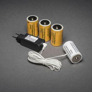Konstsmide Netzadapter für Batterieartikel 6 V, mit 4 x D 1,5 V Batterien