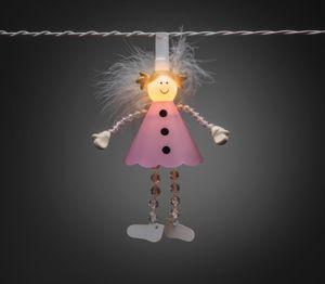 Konstsmide LED Dekolichterkette, pinke Engel