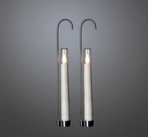 Konstsmide LED Kerzen 2-er Set mit Kerzenhalter, weiß
