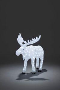 Konstsmide LED Acryl Elch mit kalt weißen Dioden, 65 cm hoch