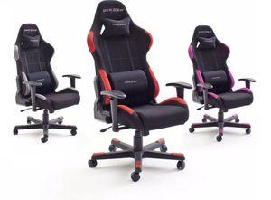 DX-RACER Chefsessel F-Serie, schwarz/rot