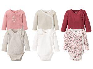LUPILU® PURE COLLECTION 2 Baby Mädchen Wickelbodys/-Bodys