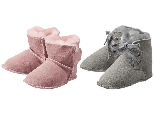 LUPILU® PURE COLLECTION Baby Mädchen Lammfellstiefel
