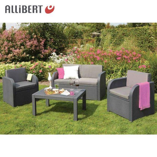 Allibert Lounge Saint Tropez Graphit mit Auflagen