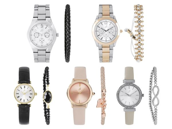 AURIOL® Damen Armbanduhr-Schmuckset