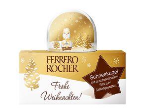 Ferrero Rocher-Schneekugel