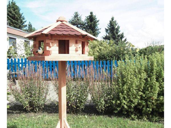 Promadino Vogelhaus Knusperhäuschen mit Ständer NEU