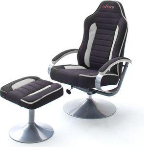 MCA mcRacing Relaxer 2  mit Hocker, schwarz/grau Polyester