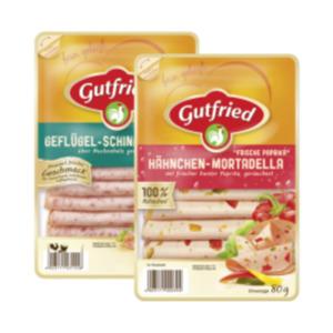 Hähnchen-Lyoner, -Mortadella oder Geflügel-Schinkenwurst