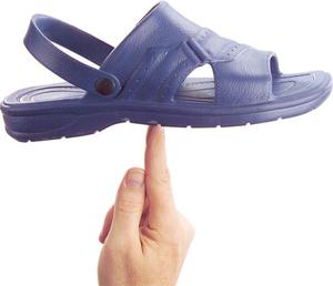 Sommer Pantoletten in verschiedenen Größen, Farbe blau