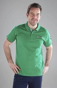 Poloshirt mit Stickerei, Farbe grasgrün River Creek