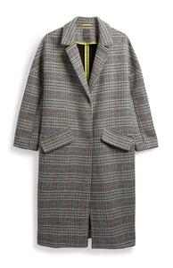 Mantel mit Neon-Karo