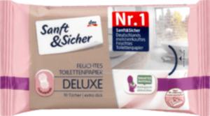 Sanft & Sicher feuchtes Toilettenpapier Deluxe Cashmere