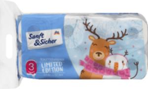 Sanft&Sicher Toilettenpapier Saison 3-lagig (8 x 150 Blatt)