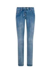 Million X Mädchen Skinny Leg RIA, stone blue denim, 128