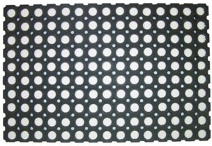 Ringgummimatte ,  schwarz 80x120 cm