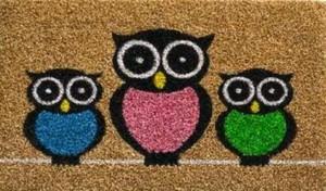 Fußmatte Kokos Owls ,  40x60 cm