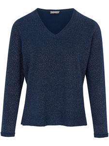 V-Pullover include blau