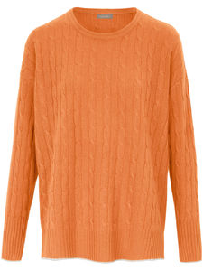 Rundhals-Pullover aus 100% Kaschmir include orange
