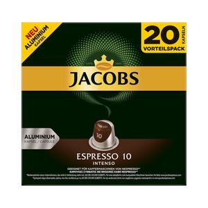 Jacobs Kapseln Espresso Intenso | 20 Nespresso® komp. Kapseln