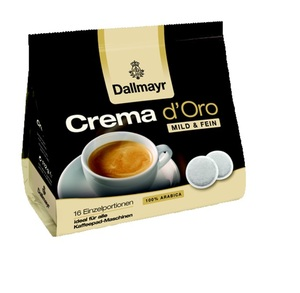 Dallmayr Crema d'Oro Mild & Fein | 16 Kaffeepads