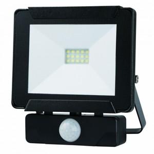 Trendline LED Fluter 10 W ,  schwarz mit Bewegungsmelder