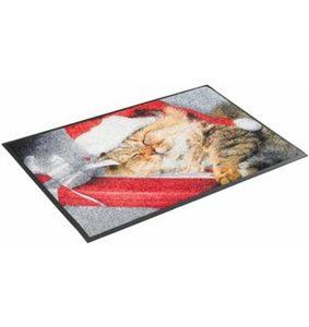 Fußmatte »Sleeping Kitty«, wash+dry by Kleen-Tex, rechteckig, Höhe 7 mm, waschbar