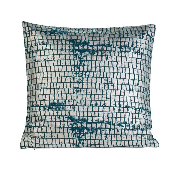 GÖZZE Kissenbezug TASCO 40 x 40 cm in Blau/Grün
