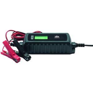 TOP CRAFT KFZ-Ladegerät MD13323, LC-Display, Überhitzungs- und Verpolungsschutz, für alle 6 / 12 V KFZ-Batterien, auch für Motorräder geeignet