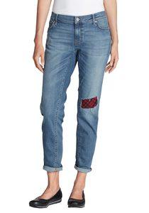 Boyfriend Jeans mit Flanellpatch