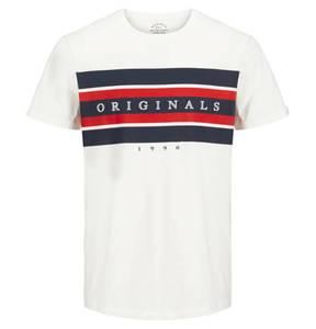 JACK & JONES             T-Shirt, Logo-Print, reine Baumwolle, für Jungen
