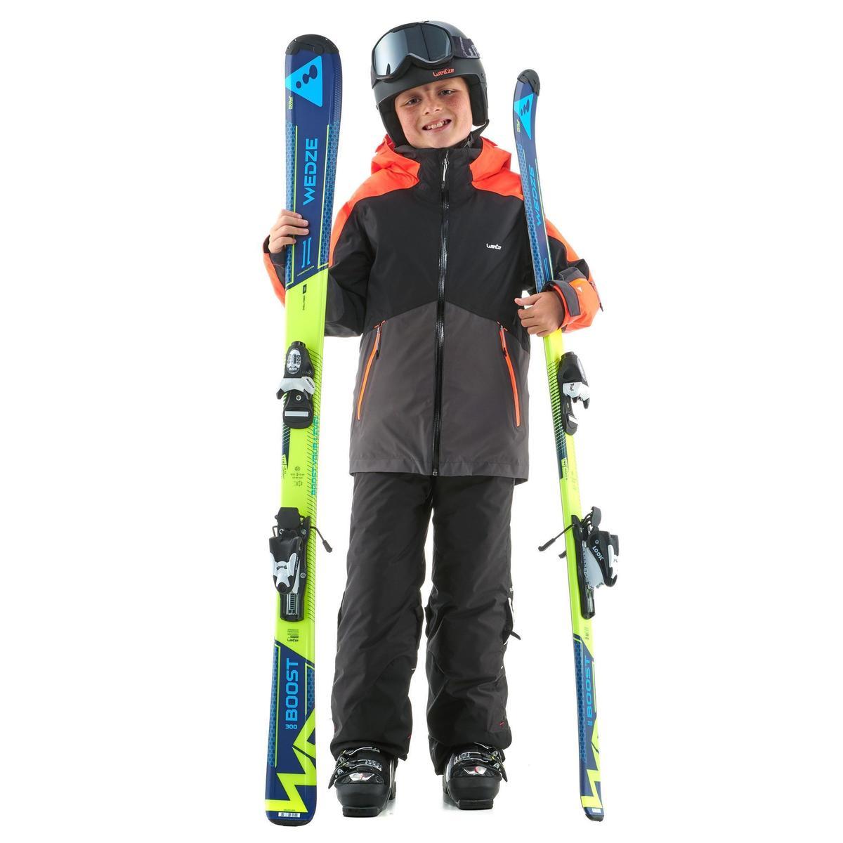 Bild 2 von Skijacke 580 Kinder schwarz/neonorange