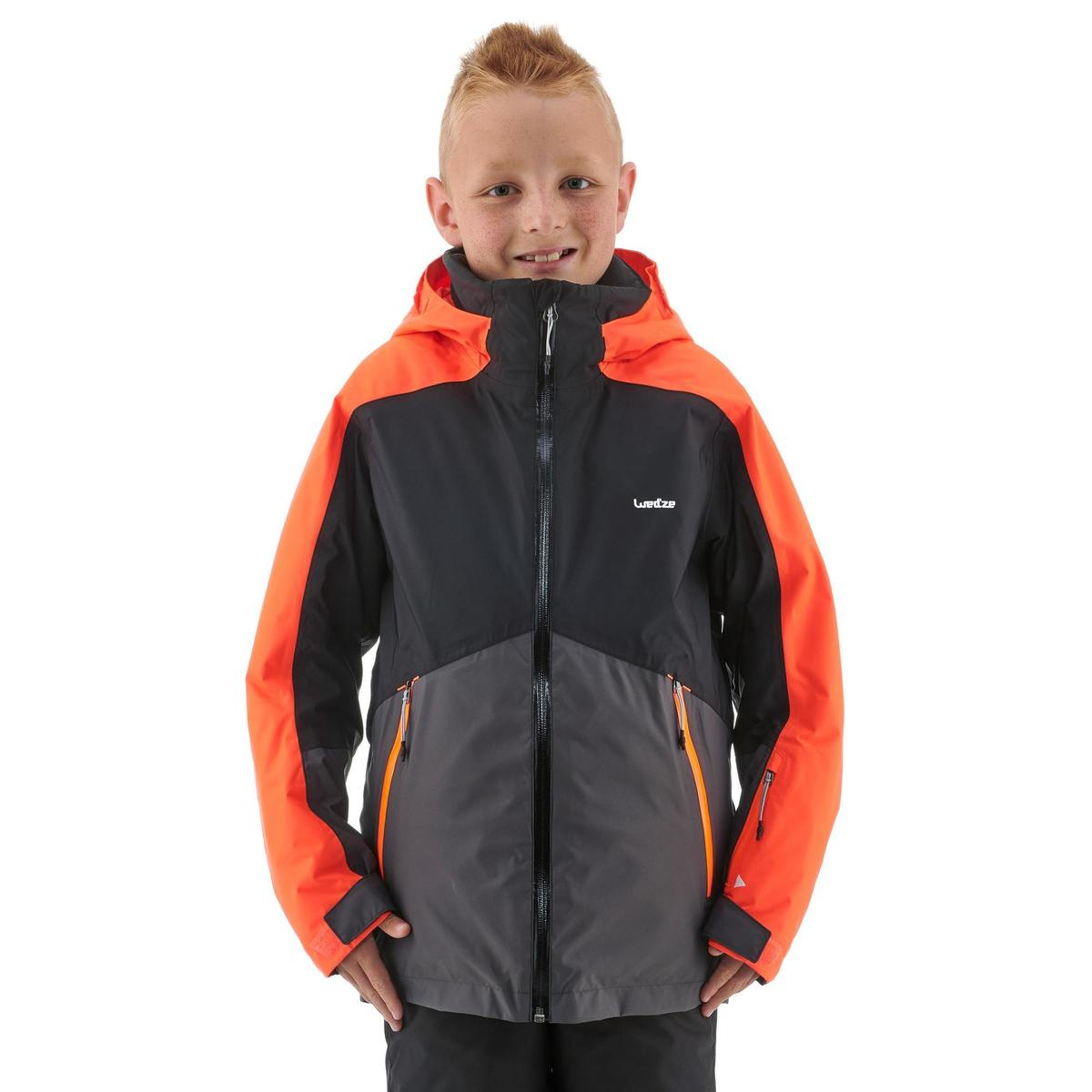 Bild 3 von Skijacke 580 Kinder schwarz/neonorange