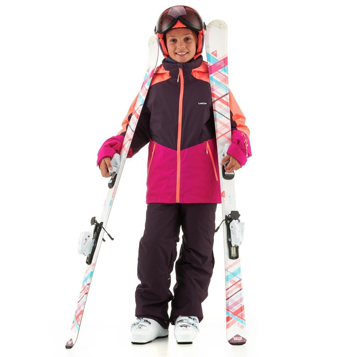 Bild 2 von Skijacke Piste 580 Kinder rosa/violett
