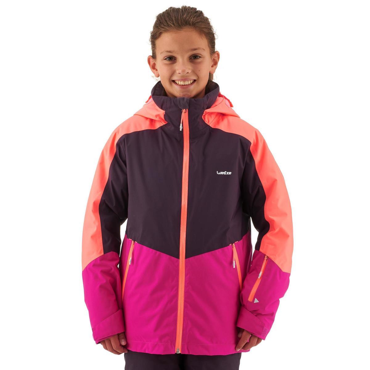 Bild 3 von Skijacke Piste 580 Kinder rosa/violett