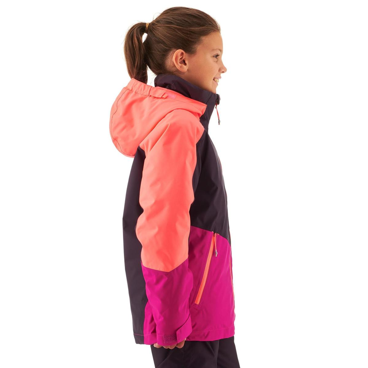 Bild 4 von Skijacke Piste 580 Kinder rosa/violett