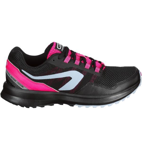 6ac34f2a8f8ef3 Laufschuhe Run Active Grip Damen schwarz rosa von Decathlon ansehen ...