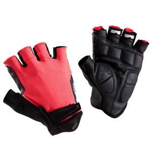 Fahrrad-Handschuhe Rennrad 900 neonrosa
