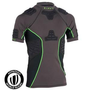 Rugby-Schulterschutz Full H 900 Erwachsene grau/grün