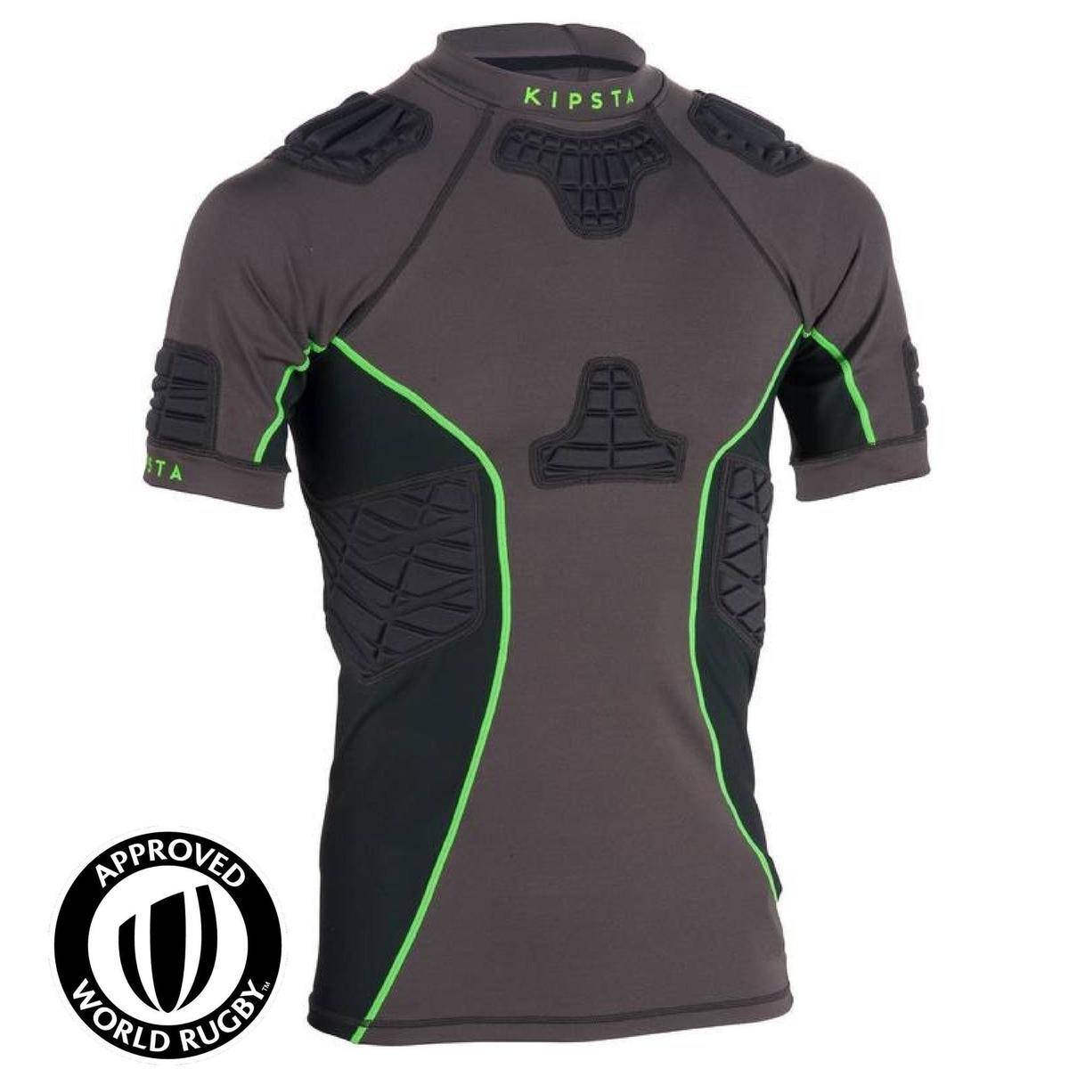 Bild 1 von Rugby-Schulterschutz Full H 900 Erwachsene grau/grün