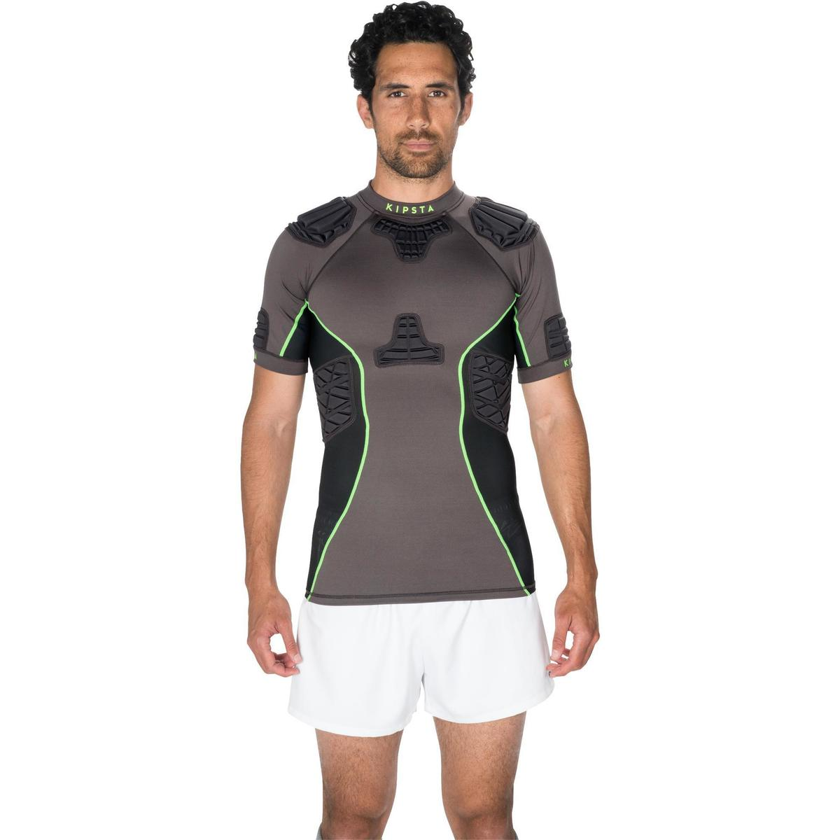 Bild 2 von Rugby-Schulterschutz Full H 900 Erwachsene grau/grün