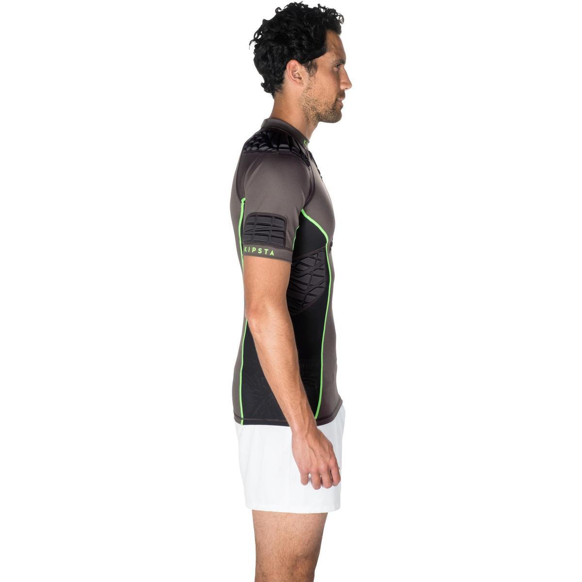 Bild 3 von Rugby-Schulterschutz Full H 900 Erwachsene grau/grün